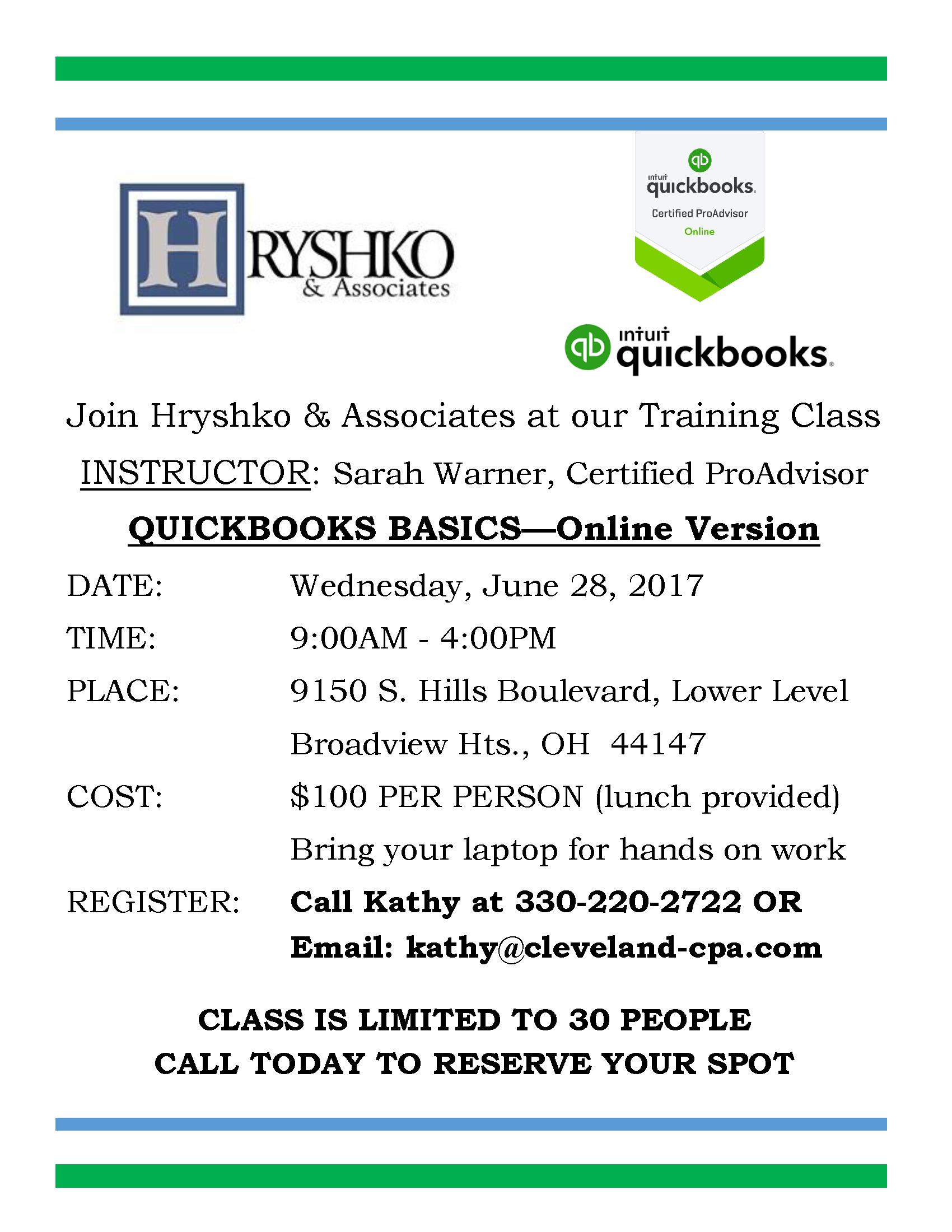 QuickBooks Class